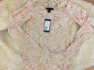 H&M Top di merletto rosa pallido-rosa antico