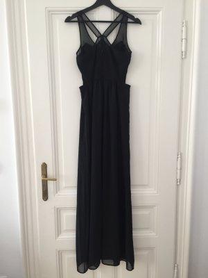 Neues schwarzes bodenlanges Kleid von Zara