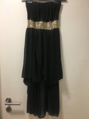 Neues schwarzes/gold Pailletten Kleid