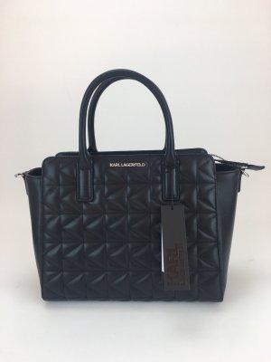Neues, schwarzes Handbag von Karl Lagerfeld