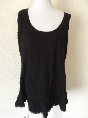 neues schwarzes Longshirt / Shirtkleid mit Spitze von Sheego - Gr. 44