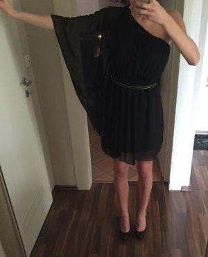 NEUES Schwarzes One-Shoulder-Kleid