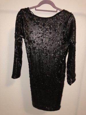 NEUES Schwarzes Pailletten Kleid