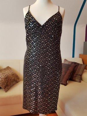 neues schwarzes Partykleid mit Strass Gr.44