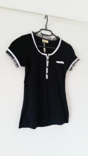 Voyelles T-shirt bianco-nero
