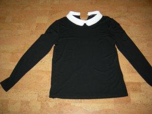 Hallhuber Colshirt zwart-wit Viscose