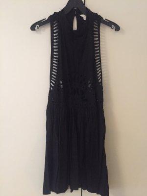 Neues schwarzes Strandkleid mit vielen Cut outs 40