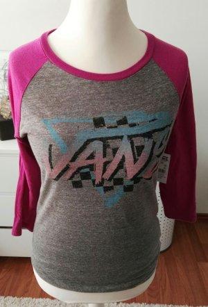 neues shirt von vans grau pink gr.s