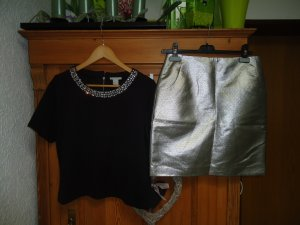 neues Silvester Outfit  metallic 2 Teilig  Gr.40/L