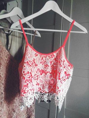 Neues Sommer top missguided neu pink nein spitze