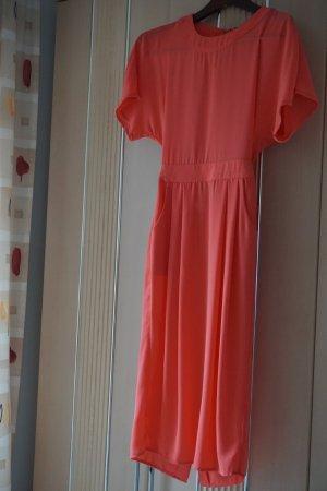 Edited Midi Dress salmon-orange polyester