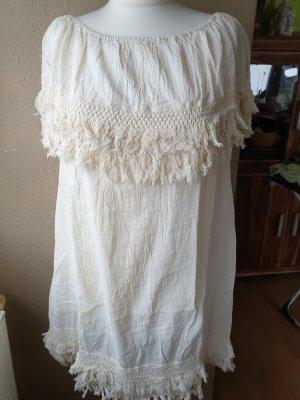 Off-The-Shoulder Dress cream cotton