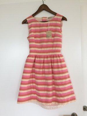 Cut out jurk veelkleurig Katoen