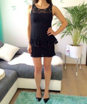 neues Spitzenkleid ZARA schwarz XS 34 Blogger Kleid Spitze