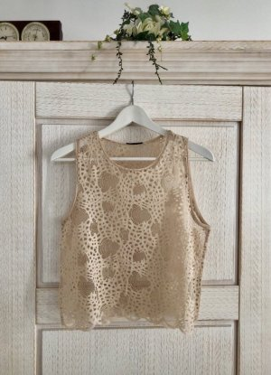 Zara Lace Top cream-nude