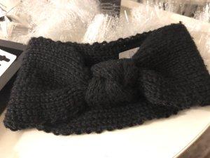 Neues Stirnband schwarz mit Knoten in der Mitte