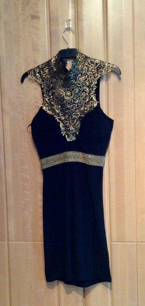 Stretch Dress black-gold-colored