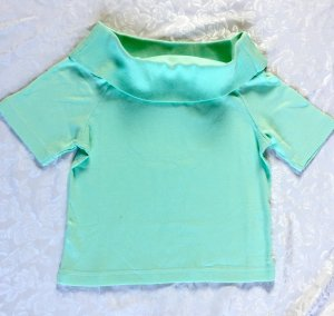 neues, super schickes Carmen Shirt von Woolpecher, 36/38, grün, mint,Neu