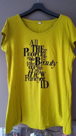 Neues T-Shirt, senffarben, mit Druck, S.Oliver, Gr. 46