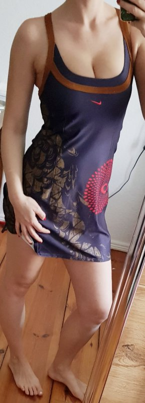 Nike Mini-jurk donker oranje-donkerpaars