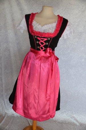 Dirndl noir-rose coton