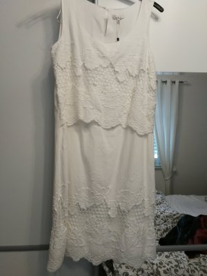 Tom Tailor Lace Dress white cotton
