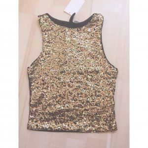 H&M Top gold-colored