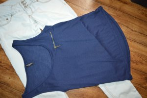 Madonna Basic Top blue-gold-colored