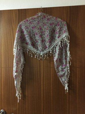 Fazzoletto da collo grigio scuro-rosa
