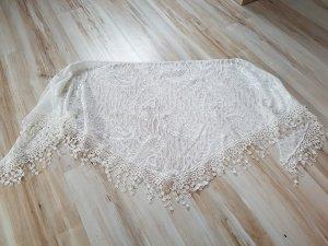 Neckerchief white-natural white polyester
