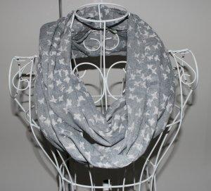 Écharpe tube gris-blanc