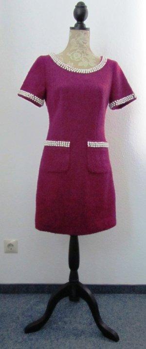 Vestido ceñido de tubo magenta-rosa Lana
