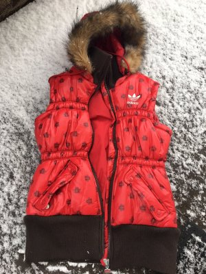 Adidas Originals Quilted Gilet red-brown polyester