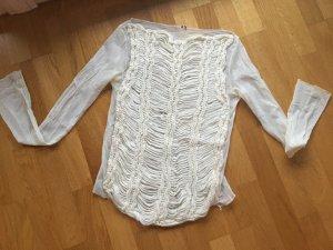 Neues ungetragenes Hingucker Shirt - Materialmix, italienische Mode