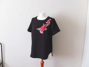 neues Vokuhila Primark Shirt Gr. 40 schwarz blumen muster print atmosphere