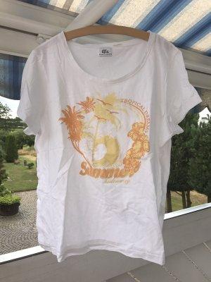 Neues weißes Shirt mit Print von bonprix