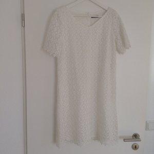 Vera Mont Kanten jurk wit Polyester