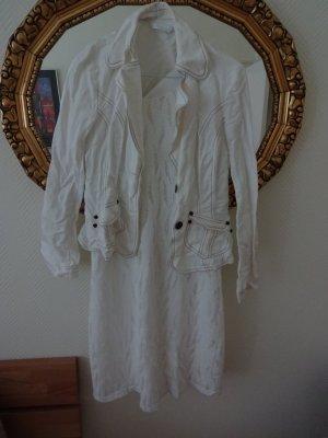 Neues weißes Spitzenkleid + Blazer (wenig getragen) Set für Sommer, D36