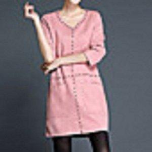 Neues Wildleder Kleid in Altrosa Große 42-44