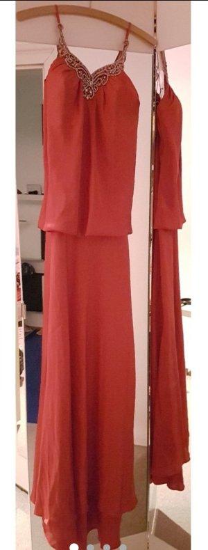 Neues, wunderschönes mit Steinen besticktes Kleid aus Seide