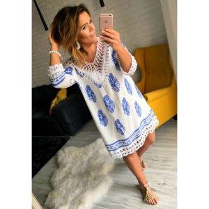 Neues XL oversize Kleid Häkel Spitze Hippie passt bei L-XL