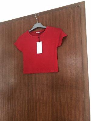 Zara Camisa recortada rojo