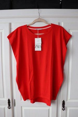 Neues Zara Oversize Shirt T-Shirt Größe S Boxy Boyfriend