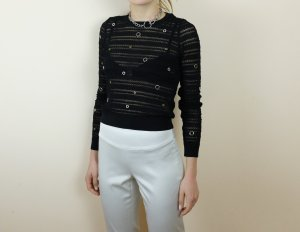 Zara Crochet Top black-silver-colored