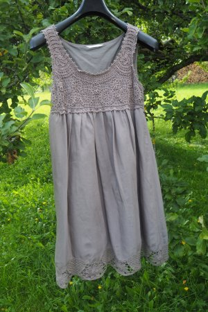 Neues zauberhaftes Sommerkleid, Häkelspitze, taupe, Gr. S