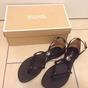 Michael Kors Roman Sandals black-silver-colored leather