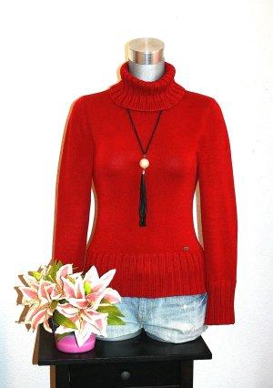 Neuw. Esprit Rollkragen Strickpullover gr.36/38 Pullover Uni Rot