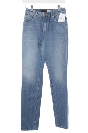 Neuw Hoge taille jeans staalblauw straat-mode uitstraling