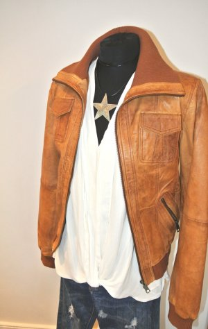 Neuw - Leder Jacke Cognac Vero Moda -