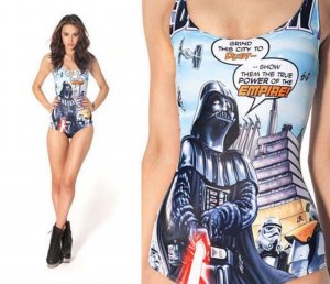 NEUWARE +++ Badeanzug Star Wars Black Milk Bikini +++ Darth Vader